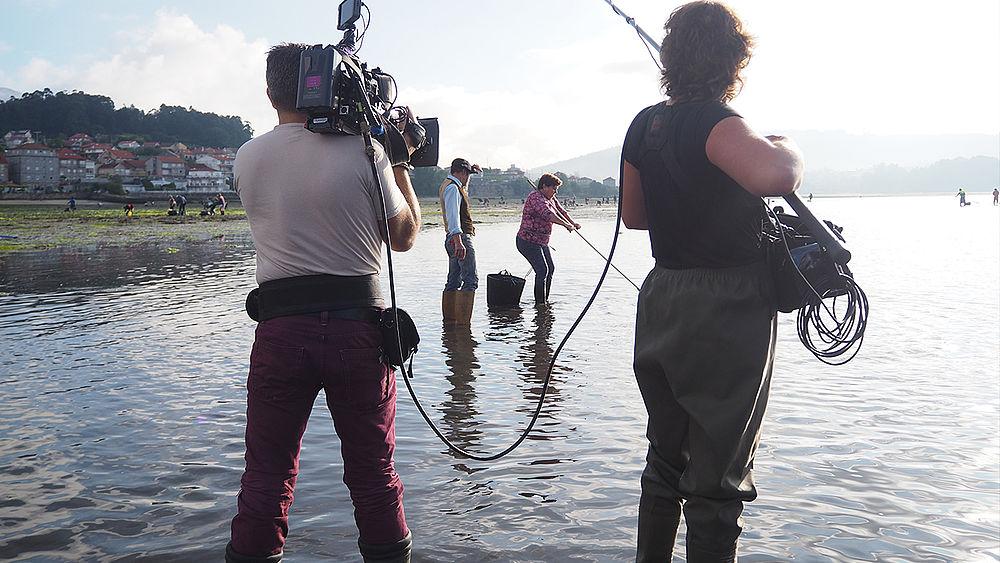 Ilja Gort en un momento de la grabación de programa en Galicia