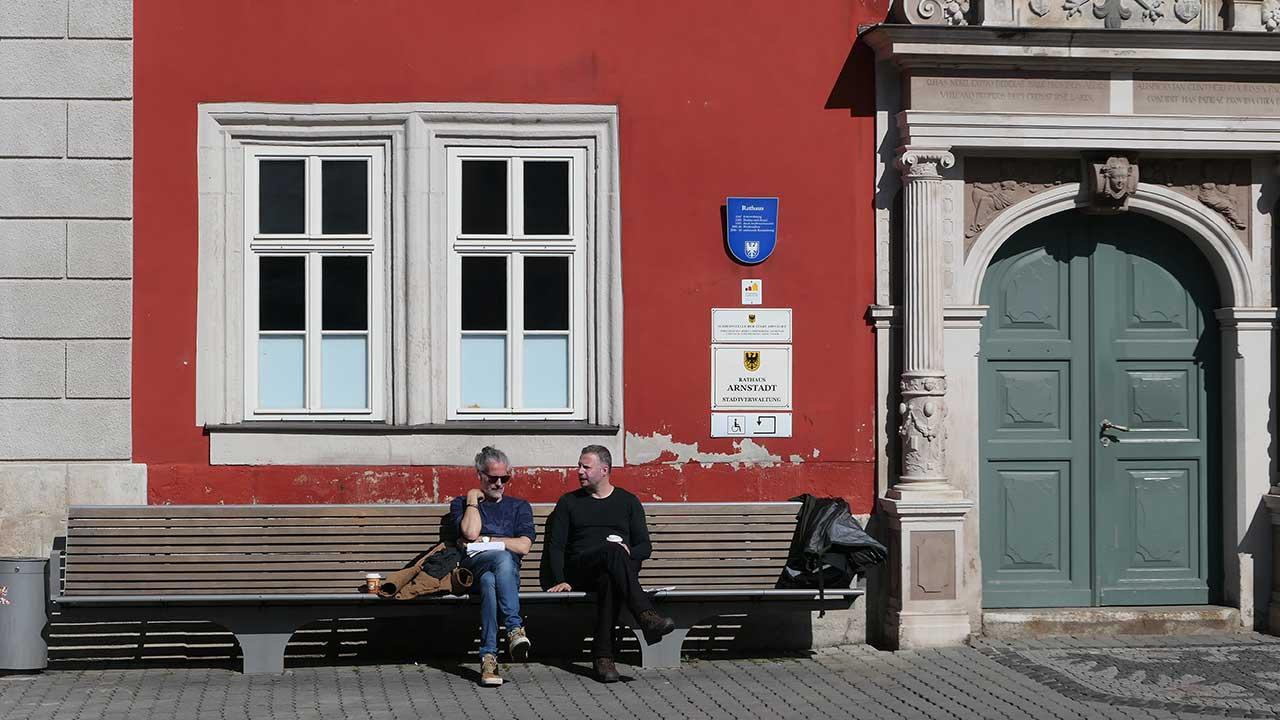 Tijl en de regisseur in Arnstadt