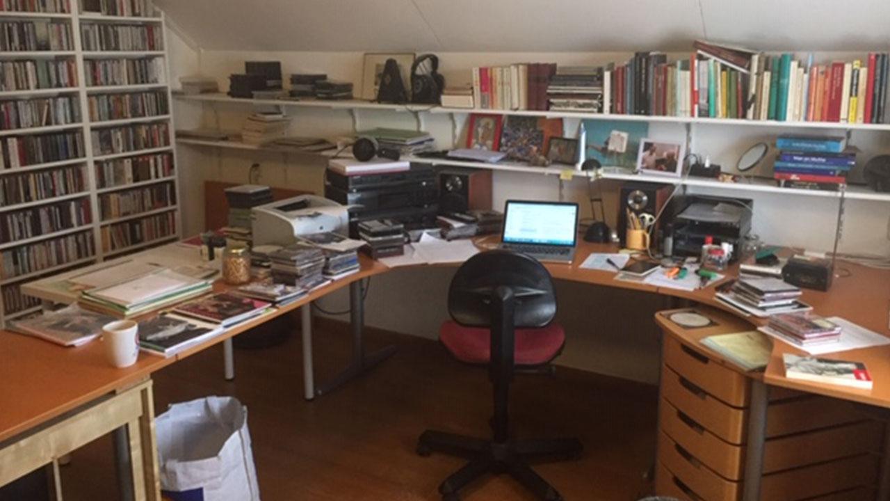 De werkkamer van Hans