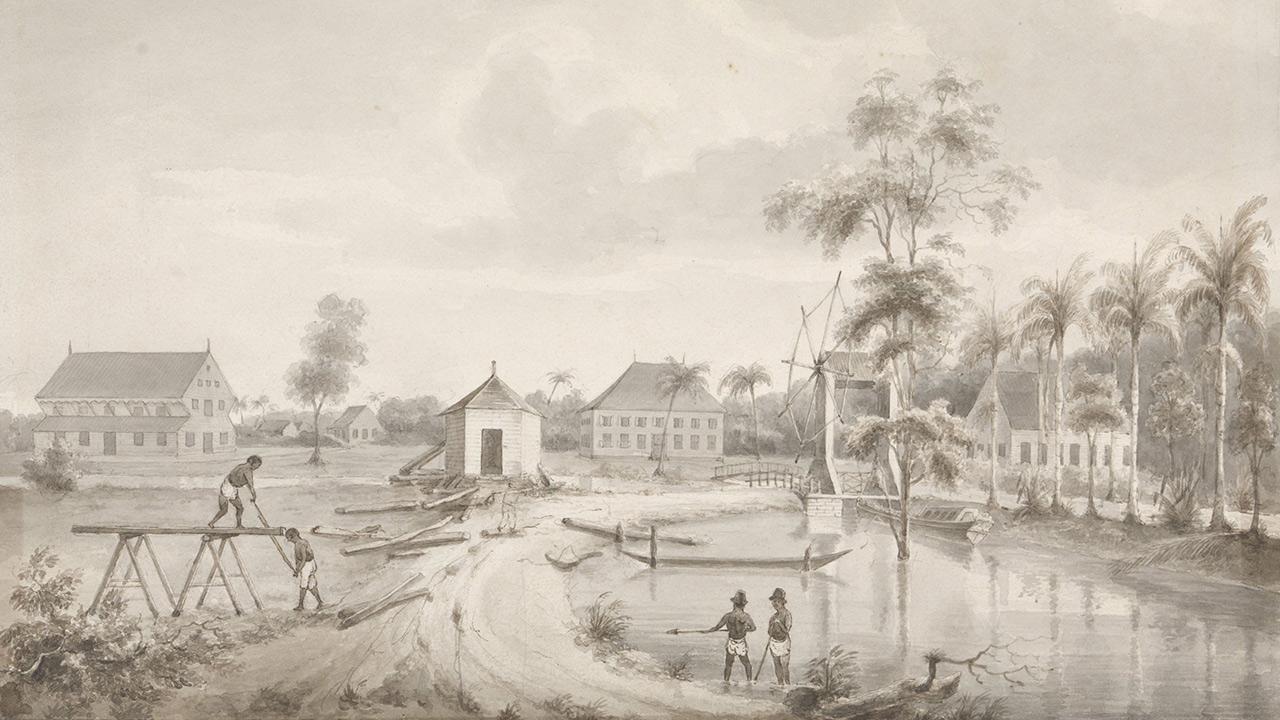 Gezicht-op-een-plantage---Hendrik-Huygens---1849---1851.jpg