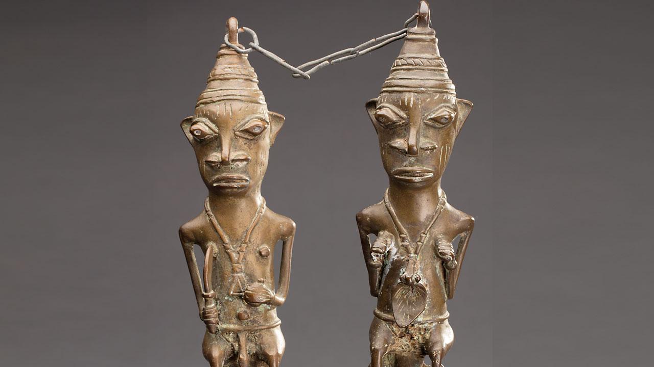 Twee Yoruba beeldjes